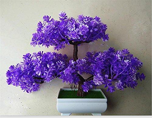 artificial Bonsái Bonsai sintético decorativo Artificial flor de la planta con Potted Decoración tabla sala estar afortunada Feng Shui Decorativa árboles floración , #118