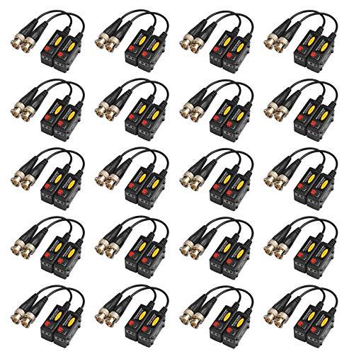20 Paare Passive HD BNC Video Balun Transceiver Transmitter für AHP/TVI/CVI/CVBS Kabelanschlüsse für 720P / 960P / 1080P CCTV Überwachungskameras Video-transceiver