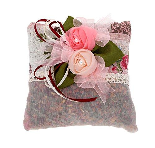 Natürlicher Lufterfrischer und Reinigungsbeutel mit zartem Rosenduft – Geruchs- und Feuchtigkeitsabsorbierer – 100% Natürlicher Bambuskohle Beutel