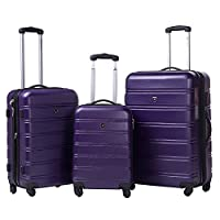 Travelhouse ABS Hard shell Travel Trolley Suitcase 4 wheel Luggage set