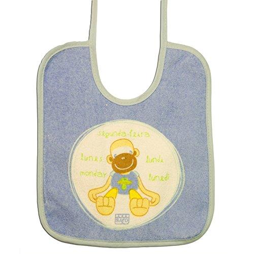 SARO - BABERO 7 DIAS bebé-niños color: LUNES talla: talla única