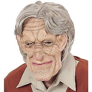 WIDMANN Máscara del viejo con la máscara de partido de la peluca y el Carnival Varía 366
