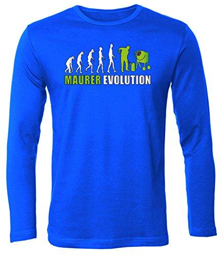 Golebros Maurer Evolution 5898 Herren Longsleeve (HL-B-Weiss-Grün) Gr. XXL