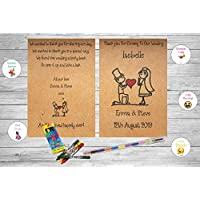 Personalised Childrens Kids Wedding Activity Pack Book Favour Cute AB15