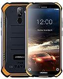 DOOGEE S40 4G Télephone Portable Debloqué Incassable Android 9,0, 2GO+16GO IP68/IP69K Smartphone Etanche Antichoc Double SIM 5,5 '', 4650mAh Cameras 8MP+5MP, NFC Empreinte Digitale Face ID, Orange