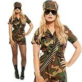 Frauen-Dame-Soldat Mädchen Kostüm Kapitän Commando Kampf Outfit