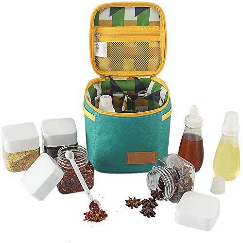 vanya outdoor condimento di bottiglia, 7pcs esterna portatile barbecue attrezzature pacchetto con organizer camping condimento bottl set
