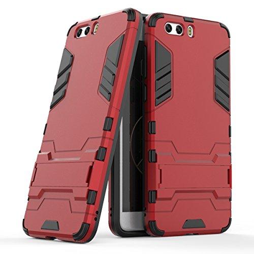 WindCase ZTE Nubia Z17s Mini Hülle, Hybrid Tasche Heavy Duty Defender [Drop Resistance] Dual Layer TPU +PC Case Ständer Schutzhülle für ZTE Nubia Z17s Mini Rot