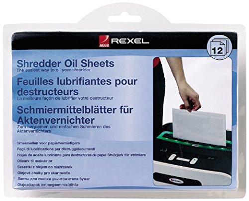 REXEL 2101948 Schmiermittel-Blätter für Aktenvernichter, 12 Blatt