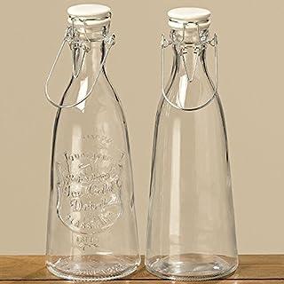 Flasche Limal 2sort H29 D10cm klar Glas klar