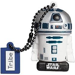 Tribe Star Wars 8 R2-D2 Chiavetta USB da 32 GB Pendrive Memoria USB Flash Drive 2.0 Memory Stick, Idee Regalo Originali, Figurine 3D, Archiviazione Dati USB con Portachiavi