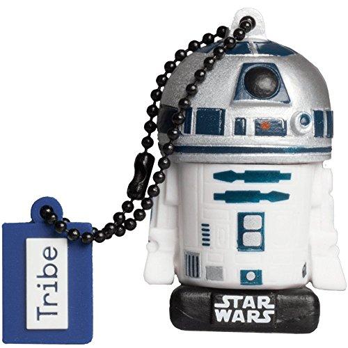Tribe Star Wars 8 R2D2 USB Stick 16 GB Speicherstick 2.0 High Speed Pendrive Memory Stick Flash Drive, Lustige Geschenke 3D Figur, USB Gadget aus Hart-PVC mit Schlüsselanhänger (Starwars Usb-port)