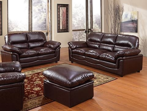 Verona Brown Leather Sofa Suite 3+2 Brand New 12 Months warranty FREE DELIVERY TO ENGLAND AND WALES