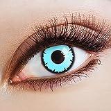 aricona Kontaktlinsen Farblinsen  blaue Farbige Kontaktlinsen Blue Vampir – Deckende 12-Monatslinsen, bunte Farblinsen für Karneval & Halloween Kostüme