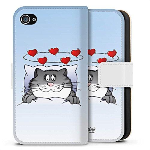 Apple iPhone X Silikon Hülle Case Schutzhülle Uli Stein Fanartikel Merchandise Cartoon Sideflip Tasche weiß