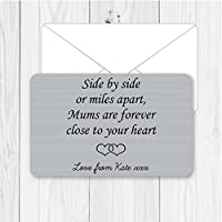 Personalised Sentimental Keepsake Mums Forever Close to Heart Metal Wallet Card Birthday Gift Present