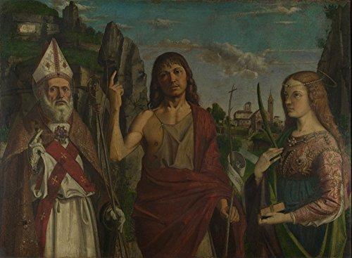 Das Museum Outlet-Bartolomeo Montagna-St. Zeno, St. Johannes der Täufer und A Buchse Märtyrer-Poster Print Online kaufen (101,6x 127cm) (Märtyrer-poster)