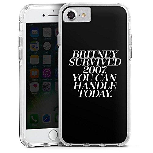Apple iPhone 6 Bumper Hülle Bumper Case Glitzer Hülle Britney Spears Spruch Statements Bumper Case transparent