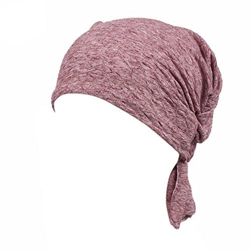 iShine Frauen Kopftuch Elastische Hut Turban Elegante Frauen Stirnband Mädchen Hut Muslim Hut Verlust Haar Geschenk Chinio Krebs Cameobrown (Objekt Kopf Kostüm)
