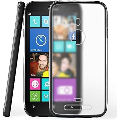 Funda protectora OneFlow para funda Nokia Lumia 925 Carcasa silicona TPU 1,5mm | Accesorios cubierta protección móvil | Funda móvil paragolpes bolso traslúcida transparente en Deep-Black