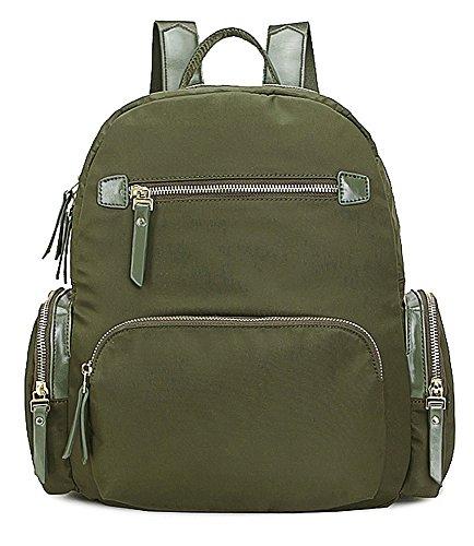 Grande Negozio Di Borsette, Damen Rucksackhandtasche Design 1 - Verde Militare