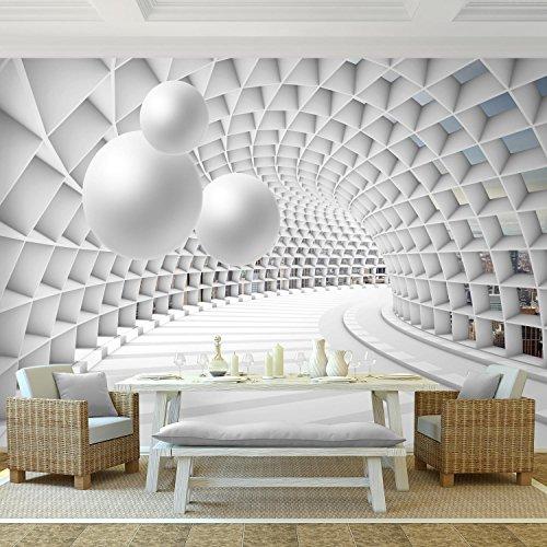 ... Fototapete 3D   Kugel Weiß 396 X 280 Cm Vlies Wand Tapete Wohnzimmer  Schlafzimmer Büro Flur ...
