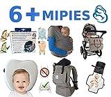 Babytragetuch ✮ elastisches Tragetuch Baby Carrier ✮ Tragetücher für Männer und Frauen ● Babytragen babytuch ● Halten Sie Ihr Baby am Herzen liegt - 7