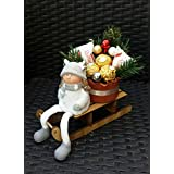 Schlitten mit Dekofigur, Geschenk zu Nikolaus, Weihnachten