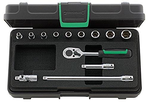 Acier volonté de douilles 13 pièces dans coffret robuste, plastique ABS empilables, 1 pièce, 96011119