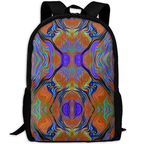 Student Backpack, School Backpack for Laptop,Most Durable Lightweight Cute Travel Water Resistant School Backpack - Lava LAMP Purple ORANGE Burnt Fusion - Fusion-computer-rucksack