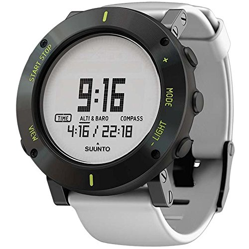 SUUNTO MEN'S CORE 49MM WHITE SILICONE BAND METAL CASE QUARTZ WATCH SS020690000