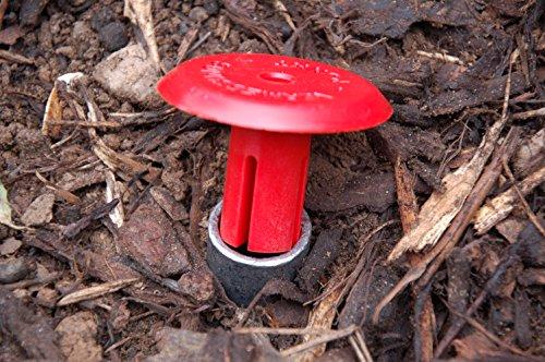 Preisvergleich Produktbild Vermessungspunkt mit Bodenhülse und Flecktarn Behälter (Rot)