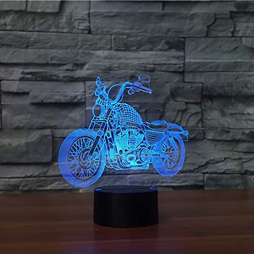 WangZJ 3d Nachtlicht Illusion Lampe Nachttischlampe / 7 Farbwechsel / 3d Optische Täuschung Nachtlicht/Cross-Country Motorrad