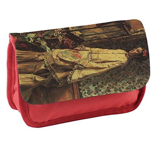 Preisvergleich Produktbild Renoir Portrait Of Rapha, Rot Schule Kinder Sublimation Hohe Qualität Polyester Schüleretui Federmäppchen mit Farbig Aufdruck. 21x13 cm.