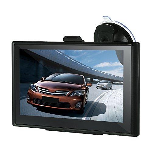 """KKmoon 7"""" Navigazione GPS per auto Portatile Navigatore GPS Touchscreen Lettore GPS Navigazione Annuncio vocale DDR128M 4GB Mappe dell'Europa integrate"""