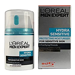 Loreal Men Expert Hydra Sensitive Protecting Moisturiser For Sensitive Skin 50 mL
