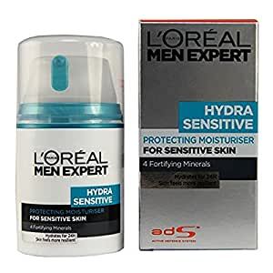 L'Oreal Men Expert Hydra Sensitive Protecting Moisturiser for Sensitive Skin, 50 ml