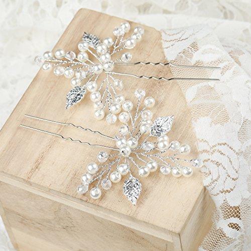 Aukmla Haarnadeln für Frauen auf Hochzeit Party oder im Alltag (2 Stück) - 5