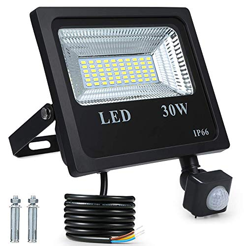 Foco Exterior LED,Tomshine 30W 60 LED 2400ML IP66 Impermeable Foco Proyector LED...