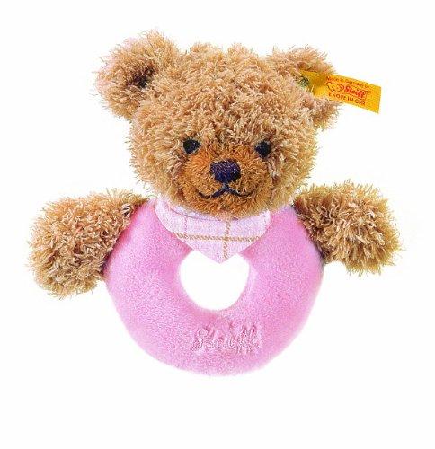 Steiff 237157 - Schlaf Gut Bär Greifring 12 cm rosa