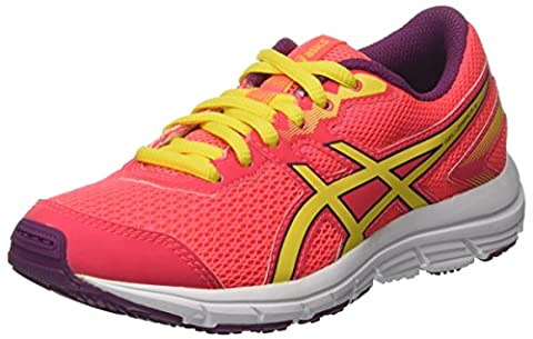 Asics Unisex Kids' Gel-Zaraca 5 Gs Sneakers, Pink (Diva Pink/Sun/Dark Purple), 4 UK