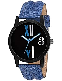 Shree Enterprise Black Dial Watch With Blue Leather Belt | Attractive Watch | For Dashing Personality | Fabulous...