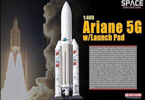 Preisvergleich Produktbild Dragon 56230 - Sammlermodell Space Ariane 5G w/Launch Pad 1/400 aus Metall