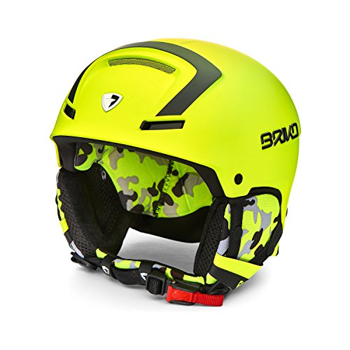Briko Faito, Casco da Ski Unisex - Adulto, 969Y016/Yellow/Fl/Black, XL (59-64)