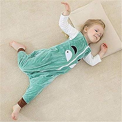 Rying Bebé Dormir Algodón Wearable Cobija Lightweight Bebé Chicas Sin Mangas Dormido Bolso con Pies Franela Cremallera Saco de Dormir para Niños Niñas
