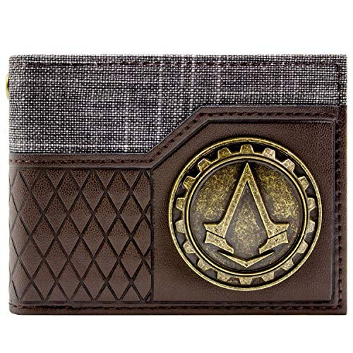 Ubisoft AC Syndicate Gold Crest Braun Portemonnaie - Assassine Kostüm Muster
