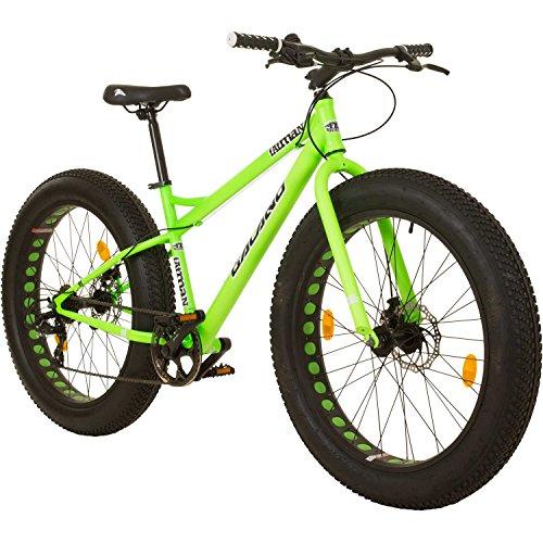 Galano 26 Zoll Fatman 4.0 Zoll Fat TYRE Fatbike, Farbe:neon grün