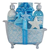 Gloss SeaCoralCotton Badeset Badewanne Geschenkset 5 teiliges, 1er Pack (1 x 1.04 kg) Geschenk-Box - Bade-Geschenk