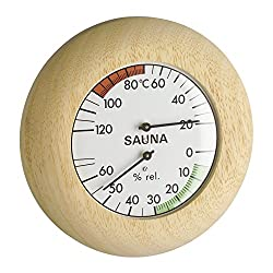 Blooming Weather 40.102800000000002 Sauna Thermometer and Hygrometer - Wood