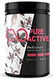Premium Pre Workout Dietary Supplement By PureActive - Pre Exercising Energy Booster For Men & Women - Proven Quality, Vegan Friendly, Transparent Formula - 11 Nutritional Ingredients - Natural Berry Flavour